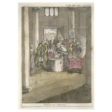 Moscovian Christening - Original Etching by G. Pivati - 1746-1751