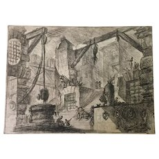 Original Ancient Etching by G. B. Piranesi