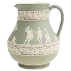Pitcher with Mythological Scenes, Wedgewood Ceramics, Second Half of 1800