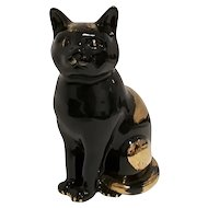 "Vintage Black Ceramic Sculpture ""Cat"", by Piero Fornasetti"