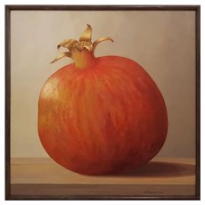 The Ideal Pomegranate, Oil on Canvas by Angela Reich
