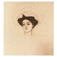 Egon Schiele (After), Original Lithograph Melanie Schiele