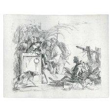 La Morte dà Udienza by Giambattista Tiepolo