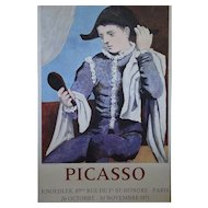 Harlequin, Original Vintage Color Poster after Pablo Picasso
