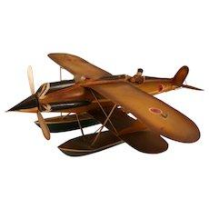 Vintage metal seaplane