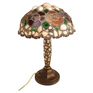 Vintage French inlaid table lamp