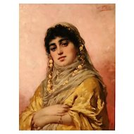 Portrait of a Gipsy Woman -  19th Century