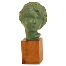 Small Bronze Bust Young Boy