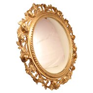 Lovely Butler Mirror in Guilded Hand Carved Frame