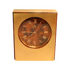 Beautiful vintage brass Jaeger-LeCoultre table clock