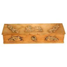 Wonderful 19th Century French Brass Empire Desk Box