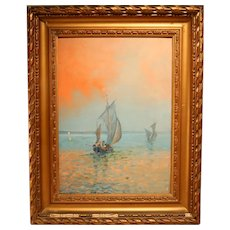 Lovely Impressionist Mediterranean Sea View