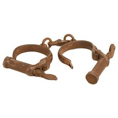 Pair Of Antique Handcuffs