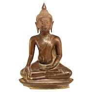 Antique Bronze Buddha From The 17th Century