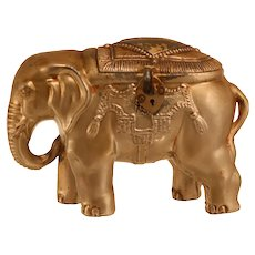 Vintage Metal Elephant Money Box