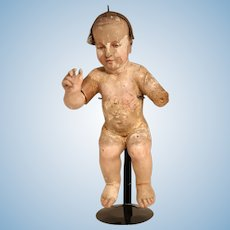 18th Century French Wooden Doll