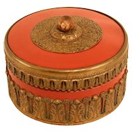 Lovely Decorated Antique Porcelain Lid Pot