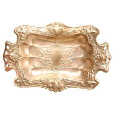 Lovely Silver Plated Art Nouveau Dish