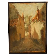 Lovely Impressionist Oil On Panel
