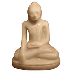 Amazing 18th. Century Marble Laughing Buddha Statue