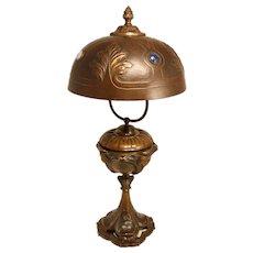 Bronze Art nouveau Table Lamp