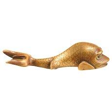 Solid Bronze Antique Dolphin Shaped Door Knocker