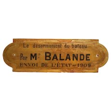 Vintage French Wooden Sign