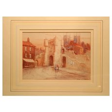 Pair Of Antique Watercolors Of The City Of York