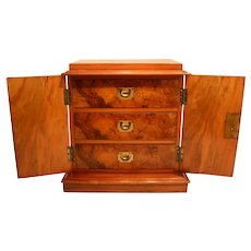 Antique Walnut Humidor Cabinet