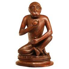 Amazing Hardwood Sculpture Of A Monkey