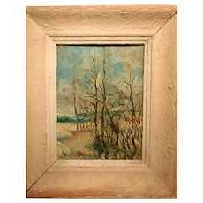 Impressionist Oil On Panel from 1930's