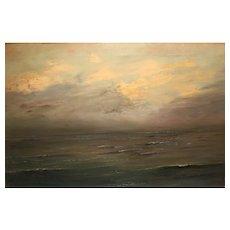 Stunning Sea View Oil On Canvas