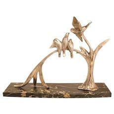 Big Bronze Art Deco Bird Sculpture By Irénée Rochard