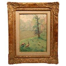 Stunning Post Impressionism Oil On Panel