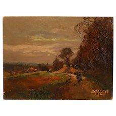 Stunning Impressionist Painting Oil On Panel
