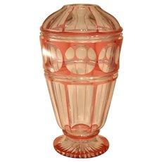 Lovely Cut Glass Art Deco Vase