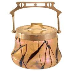 Kralik Art Nouveau Iridescent Cookie Jar