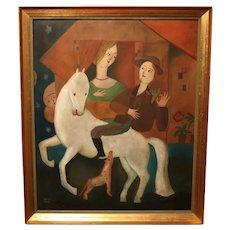 Oil On Panel By Béla Kádár (1877-1956)