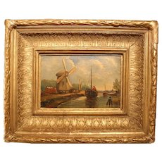 19th Century Dutch Scene Oil On Panel