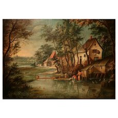 Lovely Old Oil On Canvas Flemish School