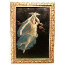 Angelic Nude with Peace Dove In Oil On Board