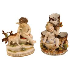 Hand Decorated Antique Porcelain Figurines
