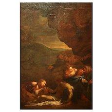 Italian School 17th Century Oil On Canvas Painting