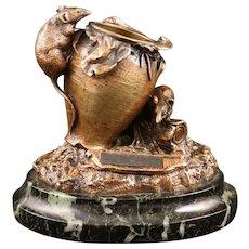 19th Century Bronze Vesta