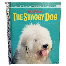 Vintage Walt Disney's The Shaggy Dog A Little Golden Book 1959 Hardcover