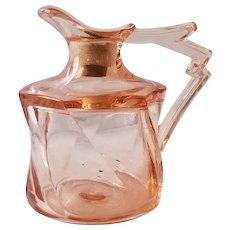 Heisey Twist Flamingo Pink Oil Cruet Circa 1928-1937