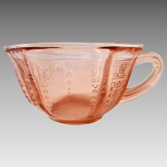 Pink Depression Glass - Teacup - Anchor Hocking Princess Pattern - Appraisal Available