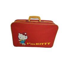 intage HELLO KITTY (I'm Kitty) SANRIO Suitcase Briefcase Bag Anime Rare 1976