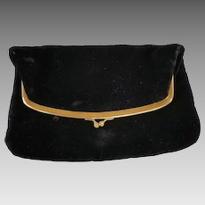 Vintage Harry Levine Velvet Baguette HL USA Purse