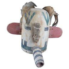 """Kachina Mask, Divinity """"Sikya Heheya"""" - HOPI, Native American"""